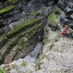 L'entrata del Buso della Neve del Monte Zingarella