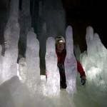 Stalagmiti di ghiaccio in Sala Freezer - Buso della Neve