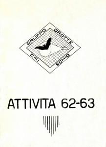 Pre Stalattite - Attività 1962-1963
