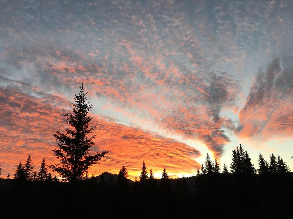 tramonto in altopiano